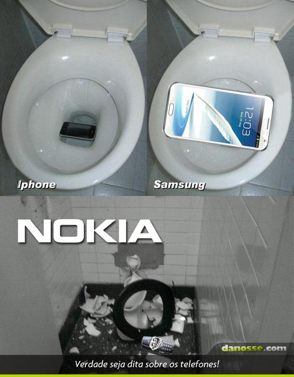 Verdades quando os telefones caem na privada!